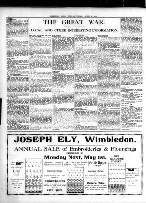 29 APRIL 1916