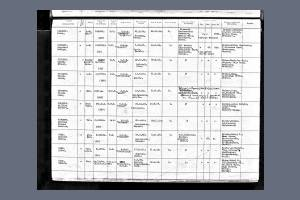 Navy Birth Record for Private Edward Vine