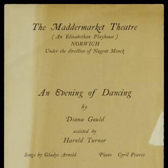Maddermarket Theatre, Norwich, October 1928