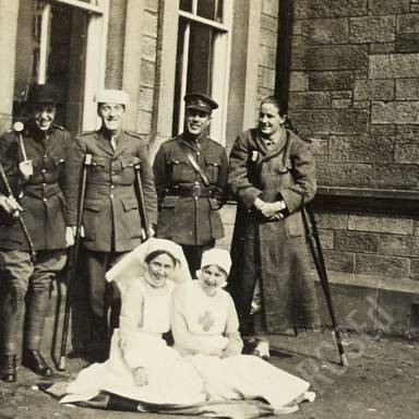 Group Photograph in Hospital Grounds