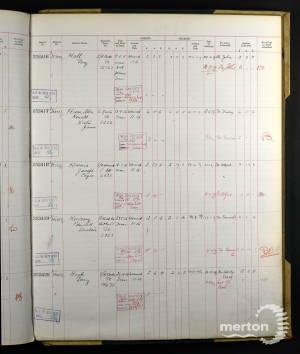 E Kearsey Register of effects