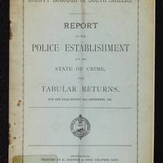 Borough of South Shields Report on the Police Establishment and the State of Crime 1892