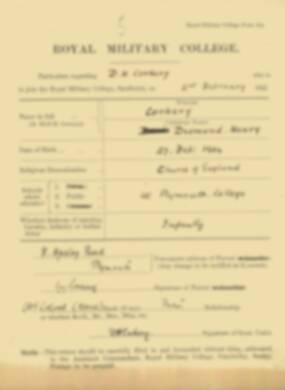 RMC Form 18A Personal Detail Sheets Feb & Sept 1922 Intake - page 28