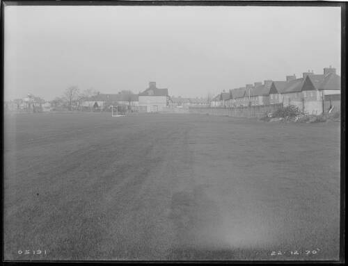 """24"""" Merton to Croydon main, Kings College playing fields, Mitcham site of pipe trench"""