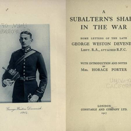 A Subaltern's Share in the War - George Weston Devenish