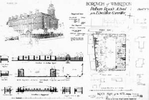 Pelham Road School, Wimbledon: Building plans