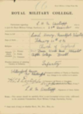 RMC Form 18A Personal Detail Sheets Jan 1915 Intake - page 371
