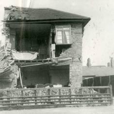 Bomb damage on Green Lane