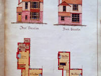 Wilton Crescent, Proposed Semi Detached Houses, No. 1,3,5,7,9,11 Elevations and Plans 1898-1900, Merton Park