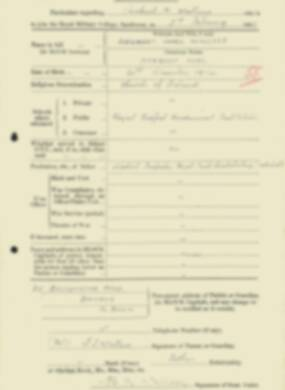 RMC Form 18A Personal Detail Sheets Feb & Sept 1933 Intake - page 144