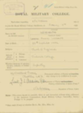 RMC Form 18A Personal Detail Sheets Feb & Sept 1921 Intake - page 2