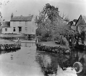 Fisheries Cottages and old mill on the Wandle
