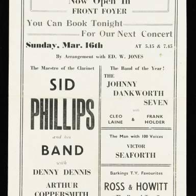 Ted Heath & Humphrey Lyttleton, Odeon Theatre, Barking - 1952 003