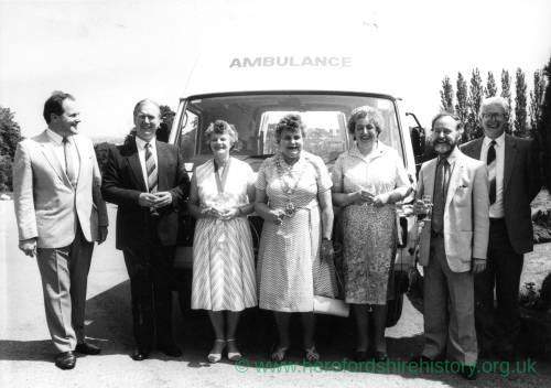 First Ross Action bus, Peggy Luker, Mary Dew and Rosemary Rigby present