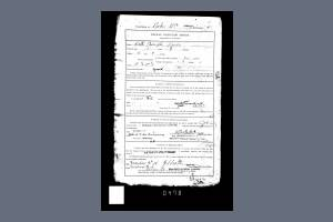 Service Record (Medical Inspection Report) for Private Walter Rooke