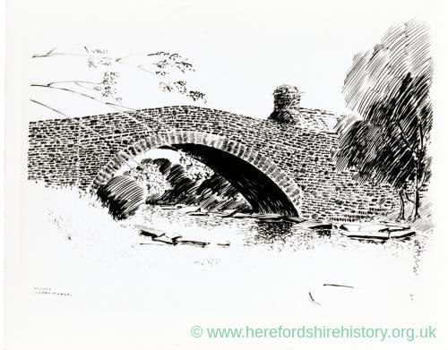 Stone Bridge at Llanvihangel, Monmouthshire, print