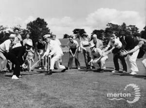 """A """"Crazy Cricket"""" match at Tudor Drive, Morden"""