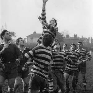 A rugby game at Rockfield Road Hereford.