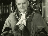 Councillor J H S Bradley JP mayor of Mitcham 1954-55