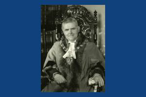 Councillor J H S Bradley JP mayor of Mitcham 1954-55