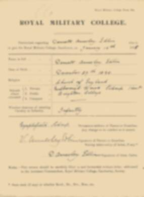 RMC Form 18A Personal Detail Sheets Jan 1915 Intake - page 110