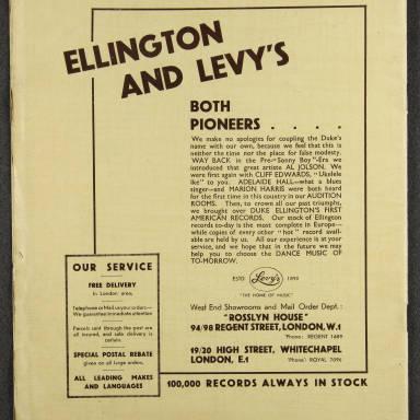 Duke Ellington Orchestra British Tour – July 1933 014