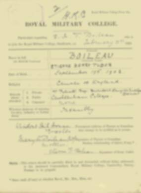 RMC Form 18A Personal Detail Sheets Feb & Sept 1921 Intake - page 16