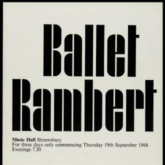 Music Hall, Shrewsbury, September 1968