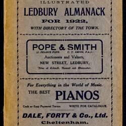 Tilley's Ledbury Almanack 1922