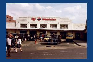 Wimbledon Station forecourt