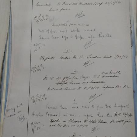 War Office Records - James Fraser Glass