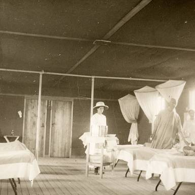 Patients in Field Station Hospital Ward