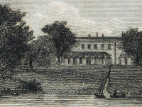 Wimbledon Park House  : View of the boating lake
