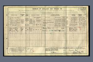 1911 Census - 45 Amity Grove, Cottenham Park, Wimbledon