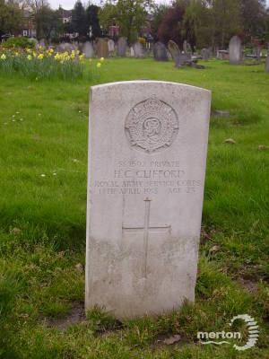 Gravestone of Harold C Clifford