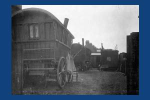 Deburgh Road: Caravans on a gypsy site