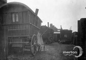 Deburgh Road: Caravans on a gypsy site