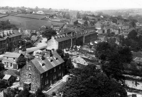 032 View from the viaduct - Wakefield Road on left
