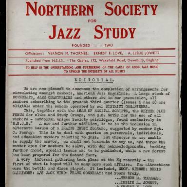 Northern Society For Jazz Study Vol.1 No.5 0001