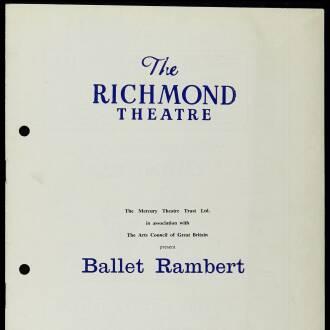 Richmond Theatre, London, February 1964 - P03