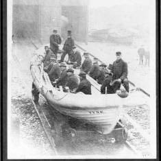 Launch of old Tyne Lifeboat