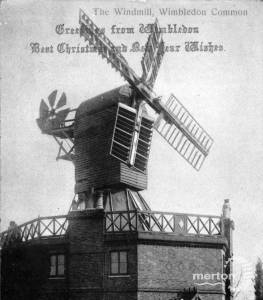 Wimbledon windmill featured on a Christmas card