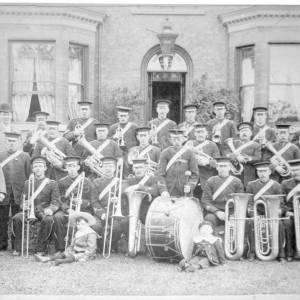 Chapeltown & Thorncliffe Prize Band, Midland Hotel c 1890s