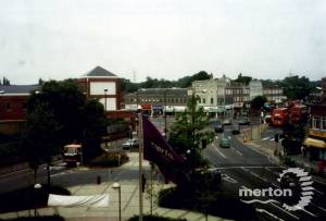 London Road, Morden: Aerial View from Civic Centre
