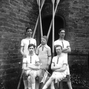 G36-515-11 Hereford Cathedral School coxed four with two pairs of crossed oars.jpg