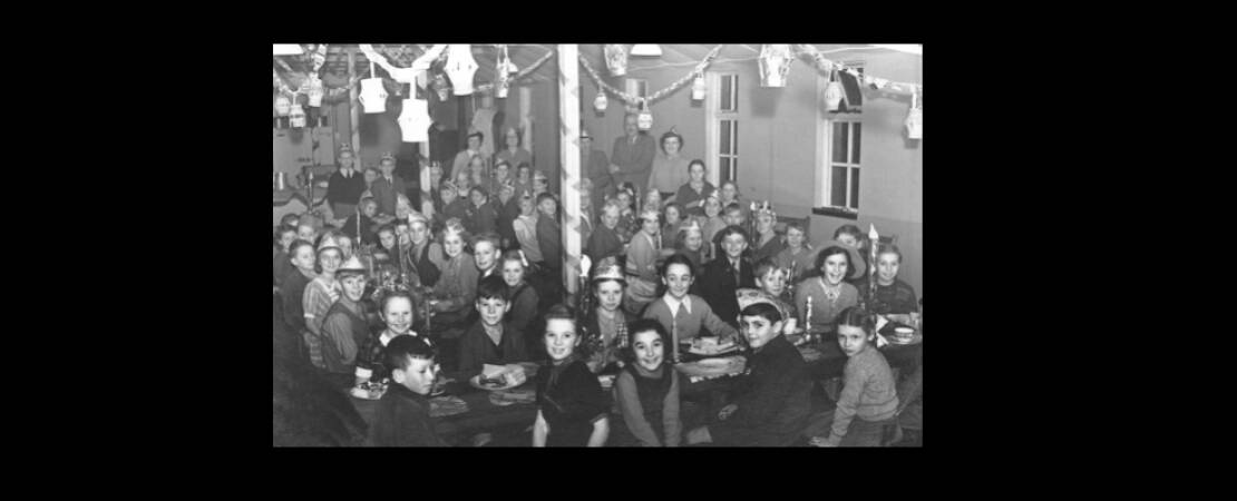 1952Christmas Party at the Houghton Regis County Primary School (Top School)