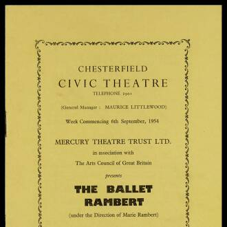 Chesterfield Civic Theatre, September 1954