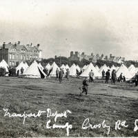 A.S. Corps Transport Depot Camp on Shore Field, Crosby Road, 1914