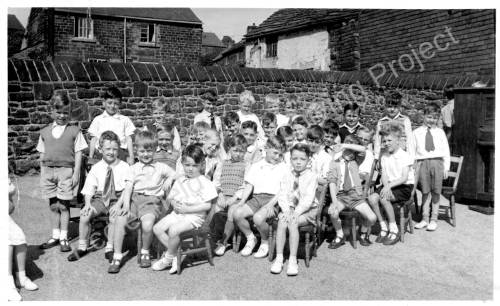 Grenoside Infant School May Day c1950.
