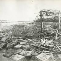 Canal Wharfage Company, bomb damage, Blitz